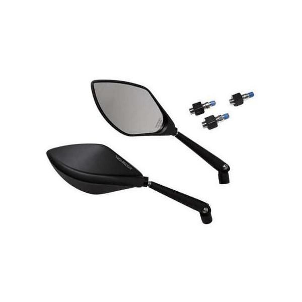 Motorrad spiegel torezzo alu schwarz eloxiert mit extra for Spiegel extra