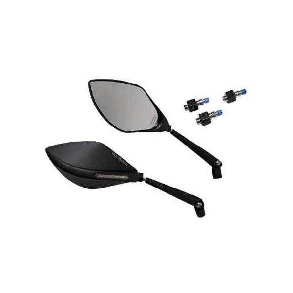 Motorrad spiegel torezzo mit led blinker alu schwarz for Spiegel unten motorrad