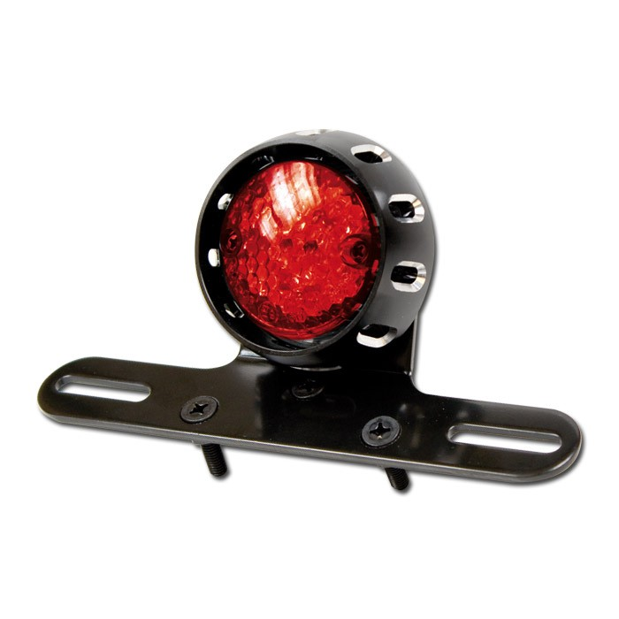 motorrad led r cklicht cnc mit halter rot mit kzb geh use in schwarz d 70mm e gepr ft. Black Bedroom Furniture Sets. Home Design Ideas