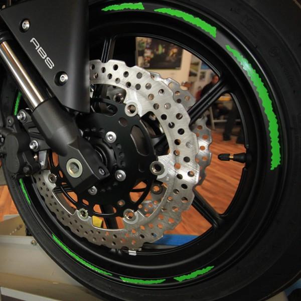 Felgenrandaufkleber Motorrad Roller Auto 7mm GRÜN