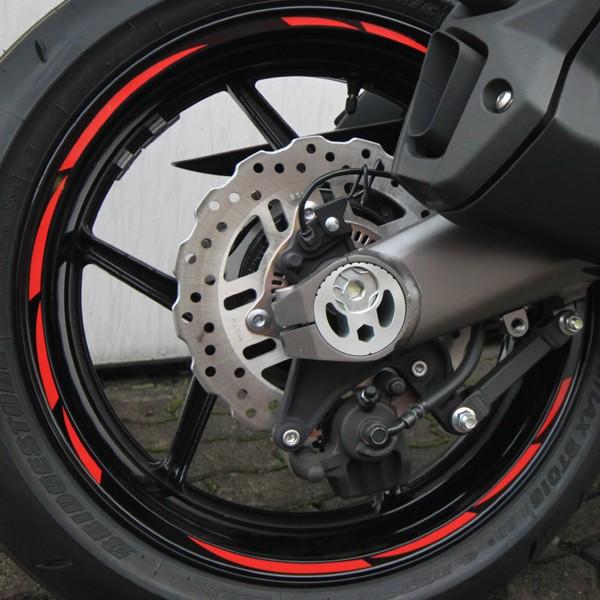 500316 Felgenrandaufkleber Motorrad Roller Auto 7mm NEON