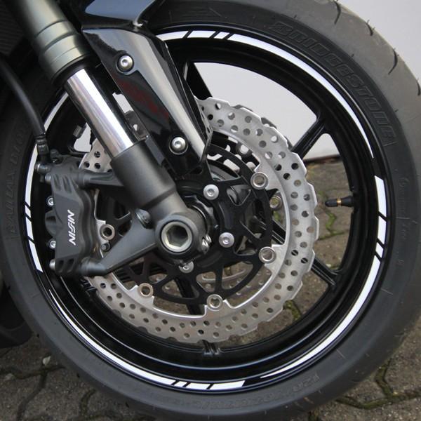 Felgenrandaufkleber Motorrad Roller Auto 7mm WEISS
