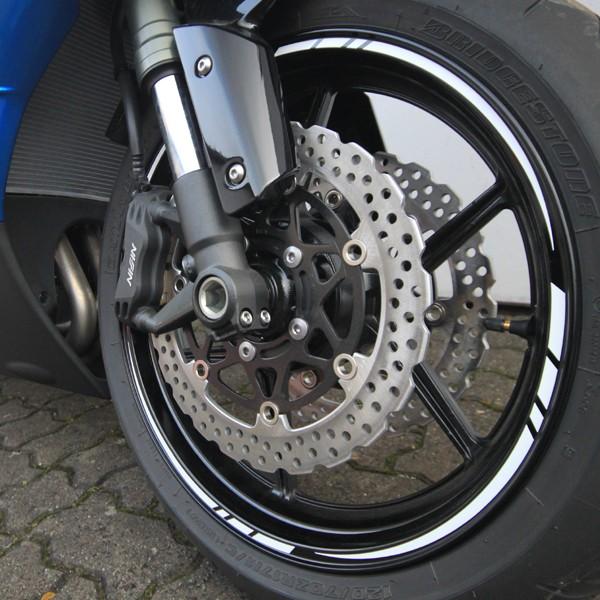 500350 Reflektierende Felgenrandaufkleber Motorrad Auto